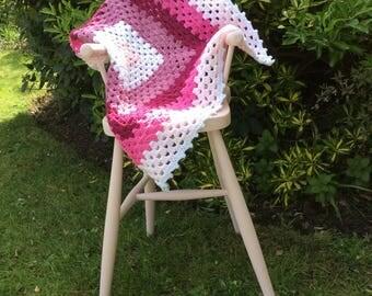 Baby Blanket Handmade Crochet Granny Square