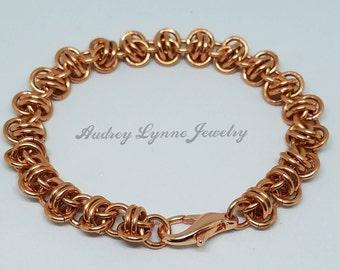 Barrel Weave Bracelet - Copper