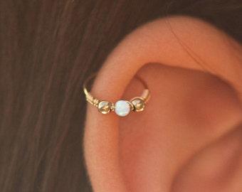 Ear Piercing,gold ear piercing,ear piercing 24g,thin ear piercing,ear piercing hoop,small ear piercing,opal ear piercing,ear piercings