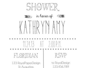 Bridal Shower Custom Invitation
