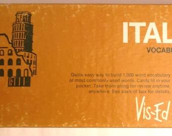 Vis-Ed Italian Vocabulary Cards in Original Box