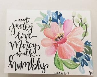 Micah 6:8 Greeting Card