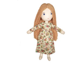 Cloth doll, fabric doll, dress up doll, rag doll, handmade doll, gift for girl, soft doll, plush doll, art doll, soft toy, room decor
