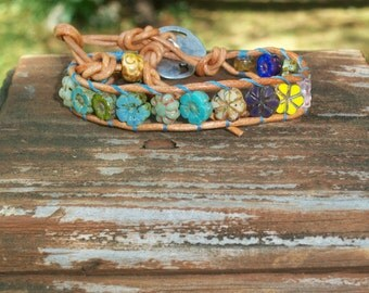 Little Flower Wrap Bracelet