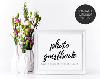 Photo Guest Book Sign, Photo Guest Book, Photo Guestbook, Wedding Reception Sign, Wedding Guest Book, Printable Wedding Sign, Wedding Sign