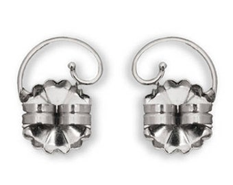 Levears Earring backs lifts Sterling Silver Stud Pierced Ear lobe support