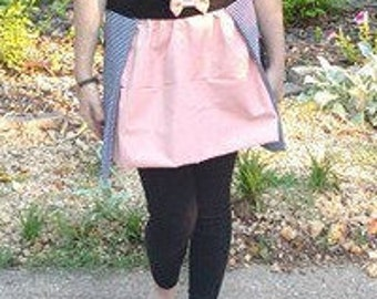 S, Black, White and Pink Phases of the Moon Skirt