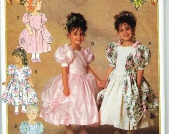 Butterick 6428 Girl's Heirloom Princess Dress Pattern Size 2, 3 ,4 Unused Sewing Pattern