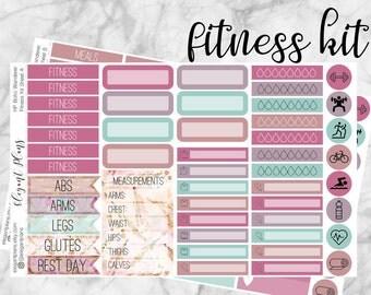 Boho Wanderer Fitness Kit | Planner Stickers | Happy Planner | Erin Condren | Planner Sticker Kit | Boho Chic Matte Fitness Stickers