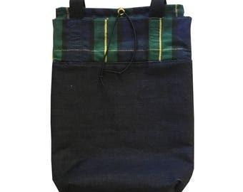 Backpack (Denim & Plaid)