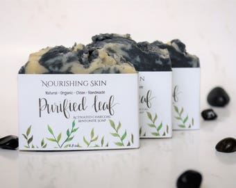 Organic Handmade Soap, Soap Bars, Activated Charcoal Bentonite Soap, Nourishing Dehydrated Skin, Homemade soap, Clean Soap, Essential oil