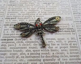 Steampunk, dragonfly, dragon-fly, jewelry, pendants, pendant