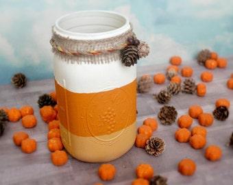 Candy Corn Jar, Halloween Decor, Fall Decor