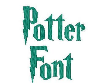Potter Font 3 sizes 10 Formats.  Stitches Beautifully