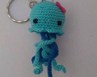 Medusa crochet Key chain-gift idea