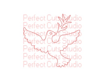 Dove of Peace SVG and Studio 3 Cut File for Silhouette Cricut Files - Bird SVGs - Religious - Animal - Cutouts Downloads Stencil Birds