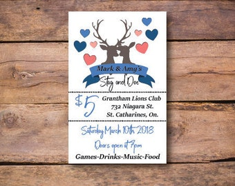 stag and doe ticket templates - stag and doe tickets etsy