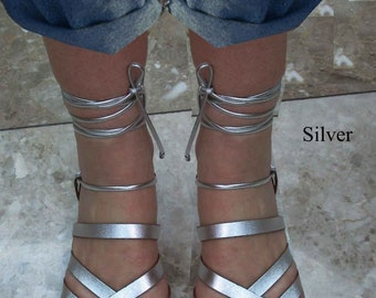 Sandals Women's,Women's Sandals,Lace up Santals,Greek Santals,Gladiators Sandals,Silver Santals,Handmade Sandals, Leather Sandals  APHRODITE