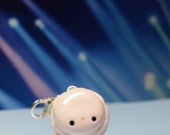 Kawaii Macaron Pendant-Polymer clay charm//jewelry//Food Jewelry