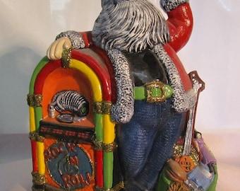 Rock n Roll Jukebox Santa