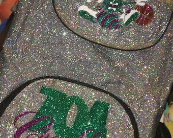 Silver Glitter Charlotte Hornets Backpack