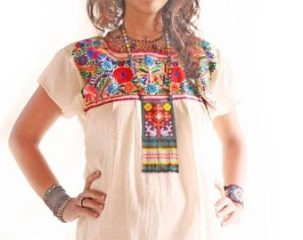 ... Mexican embroidery blouse Etsy