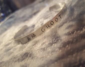 I Am Groot Metal Bracelet Cuff