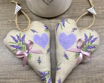 Lavender hearts set 2 pieces