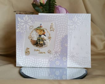 3d Greeting card Happy Easter Hummel