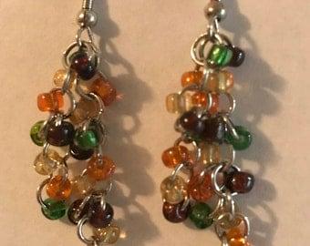Cluster Beaded Earrings