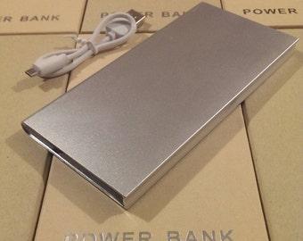 10000mAh Slim Power Bank USB External Portable Battery Charger iPhone Samsung