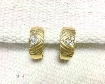 Gold clip on earrings
