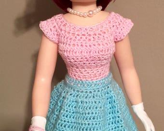 Soft Pink and Light Aqua Dress Ensemble for MA Cissy