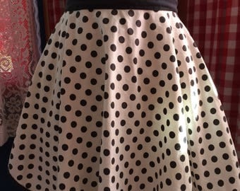 Polka Dot Black and White Homemade Hostess Apron