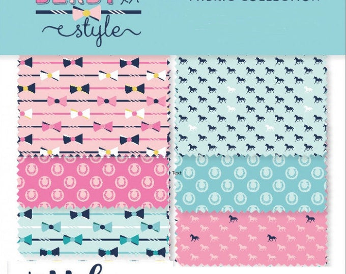 Derby Style fat quarter bundle of 6 -  Melissa Mortenson Riley Blake Quilting Fabric