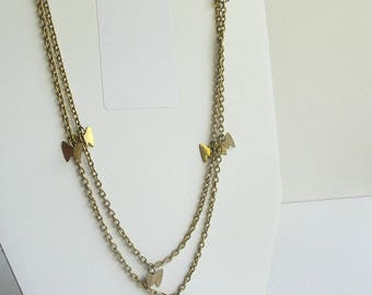 SARAH COV Gold Butterfly Charms Extra Long Necklace