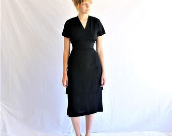 40s 50s vintage little black dress
