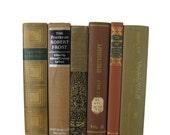 Brown Country Decor, Farmhouse,   Decorative Books, Brown Vintage Books,  Home Decor, Old Books,  Photo Props, Table Setting , Wedding Decor