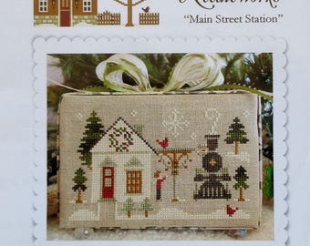 Cross Stitch Pattern | MAIN STREET STATION | Little House Needleworks | Christmas Ornament | Diane Williams | Counted Cross Stitch Pattern