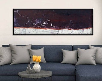 60x20 Inch Abstract Canvas Art. Abstract Canvas Painting. Large Wall Art Abstract Artwork Abstract Wall Art Abstract Painting Large Painting