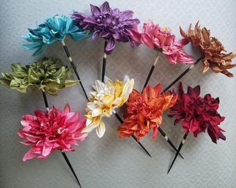 Dahlia Quill Hair Stick - 10 Colors