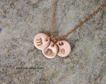 Rose Gold Mommy Necklace 6 mm 14K Gold Necklace Gold Disc Necklace Push Present Rose Gold Jewelry