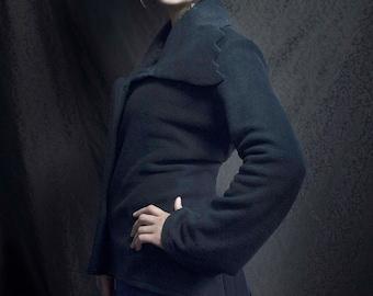 the jacket from Jack fleece black