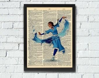 Avatar: The Last Airbender Katara Dictionary Art