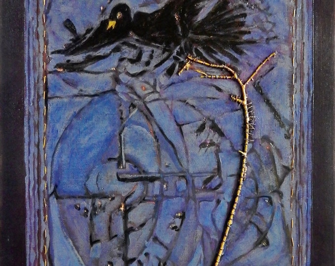Blackbird, a painting about the song