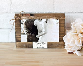 Forever Your Little Girl Frame / Father Of The Bride Wedding Gift / Dad Wedding Gift / Peronalized Daddy Frame / Wedding Gift For Parents