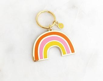 Mod Rainbow / Enamel Keychain