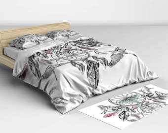Duvet Cover Queen Bohemian - Duvet Cover - Dreamcatcher Bedding - Twin, Full, Queen, King