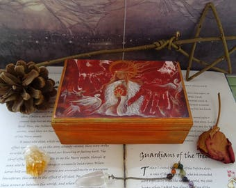 Brighid's Fire Wooden Box