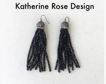 tassel earrings, beaded tassel earrings   Statement earrings, tassel earrings, bridesmaid gifts, tassel earrings, bridal earrings,